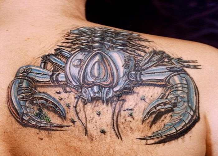3D Scorpion Muscles Tattoos For Men