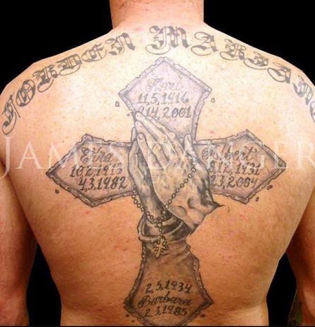 9-11 Memorial Tattoo On Back Body