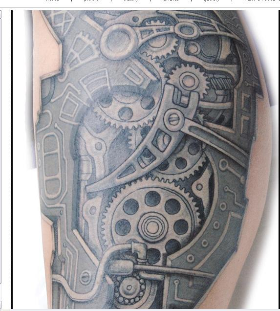 A Biomechanical Tattoo Design