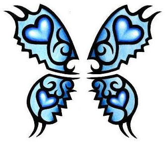 A Blue Butterfly Insect Tattoo