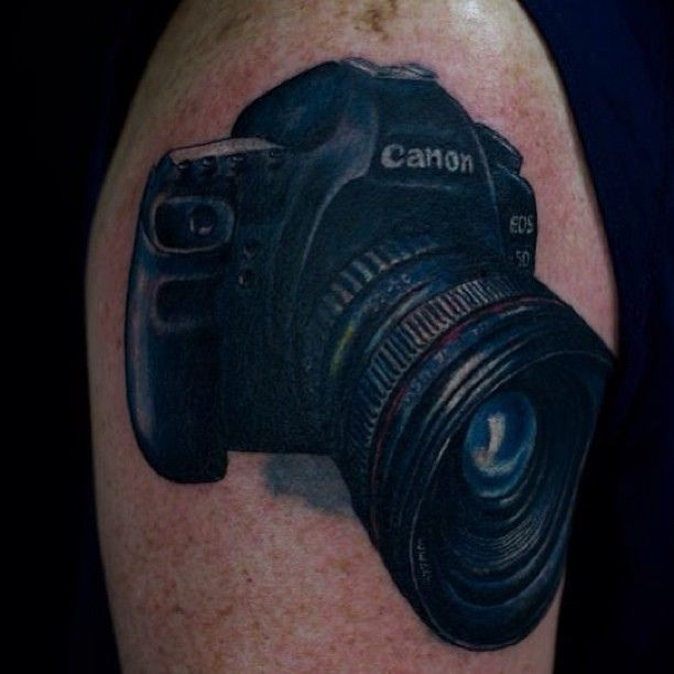 A Canon Camera Tattoo