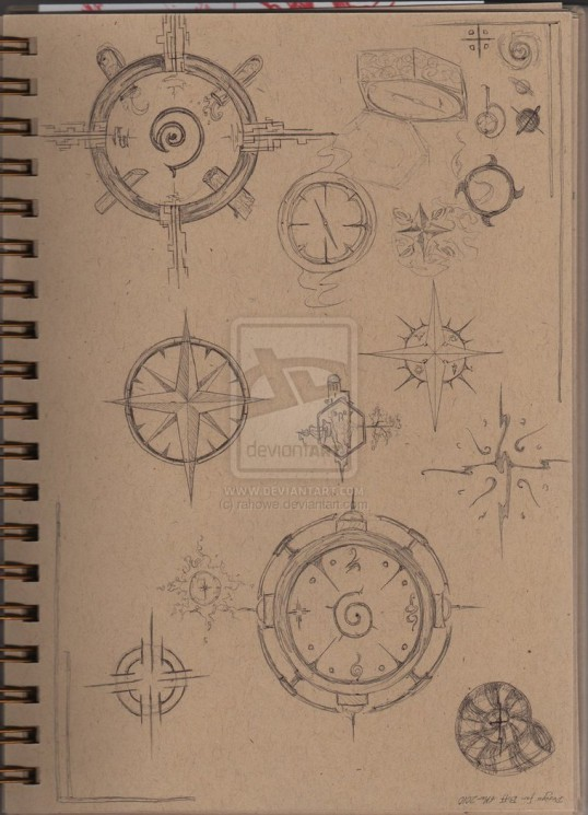 A Compass Tattoo Design