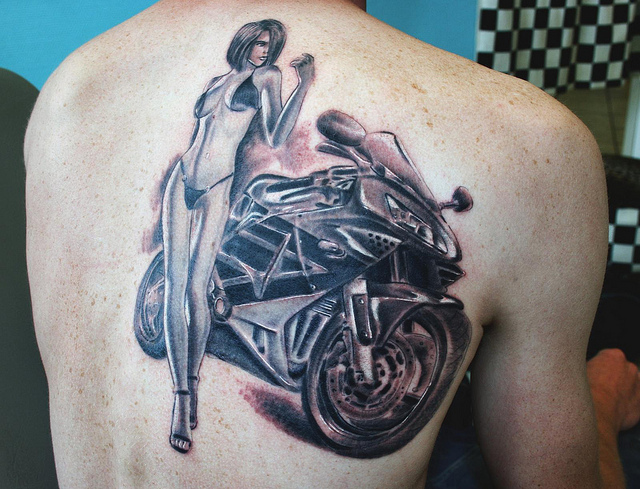 A Girl With Bike Tattoo