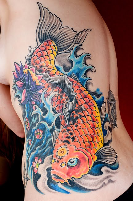 A Koi Fish Tattoo Design