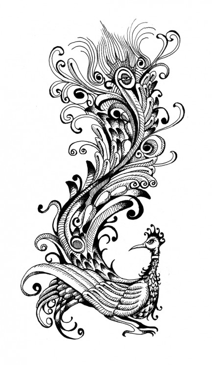 Abstract Frog Tattoo Design