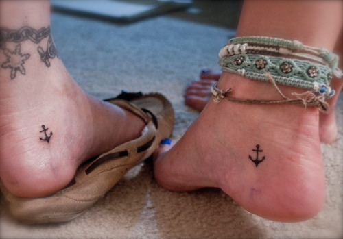 Actress Ankle Anchor Tattoo