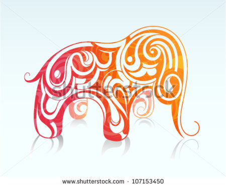 African Elephant Tattoo Drawing