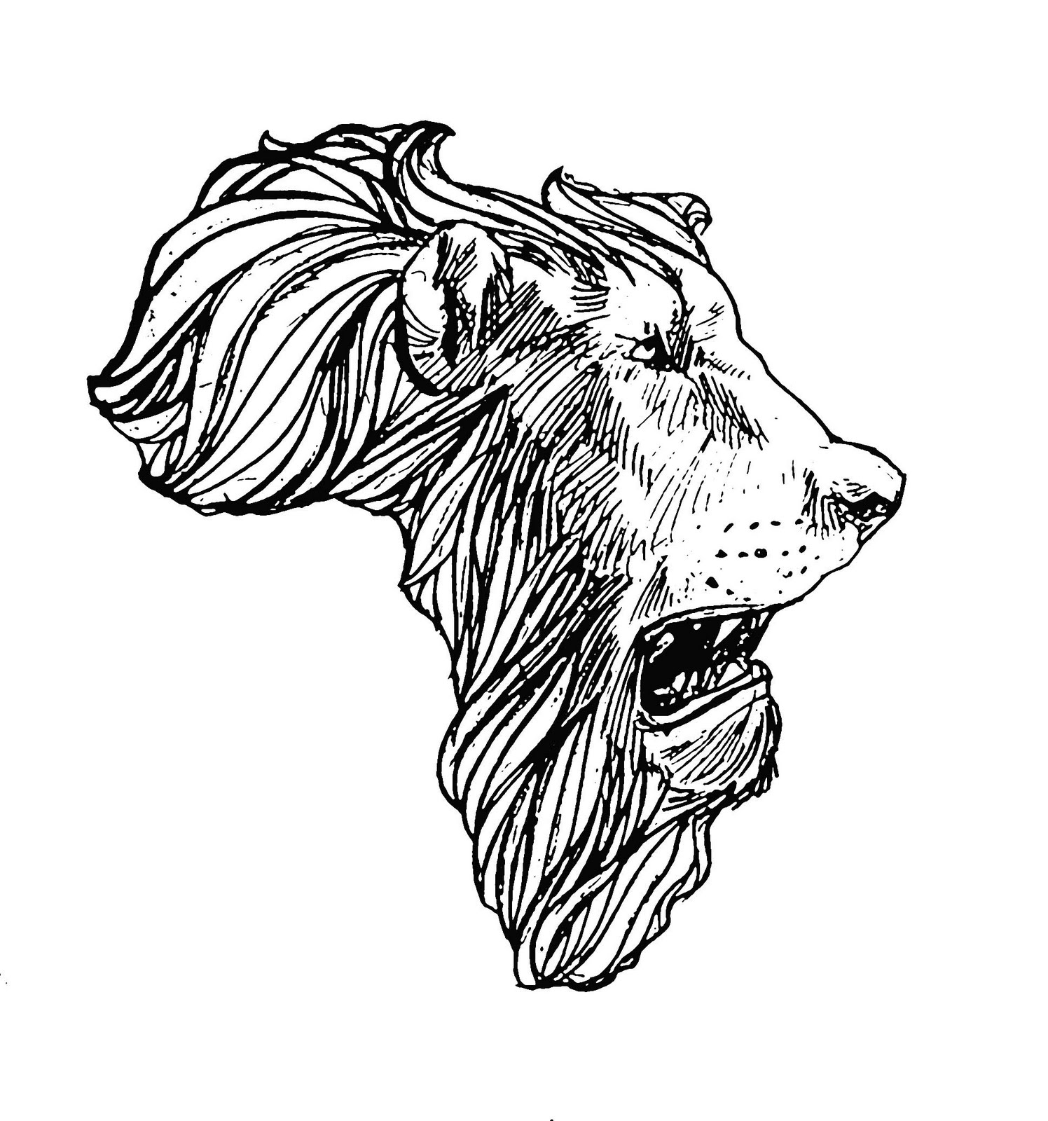 African Outline Map With Crown Tattoo In 2017 Real Photo Pictures