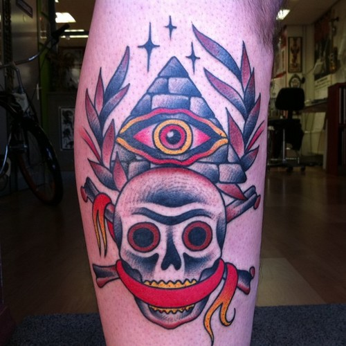 All Seeing Eye Traditional Tattoo