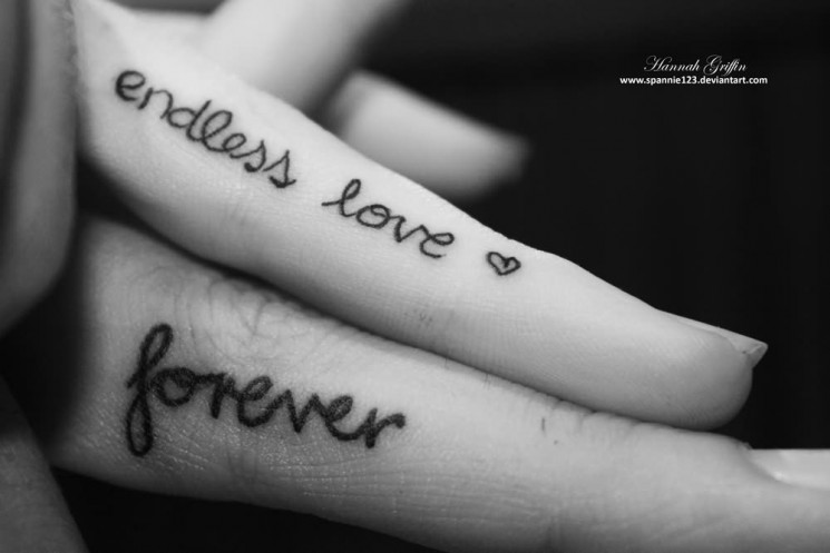 Always Forever Couple Tattoo