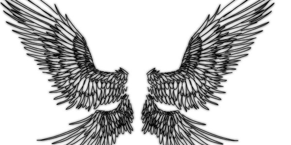 Amazing Angel Wings Tattoos On The Back