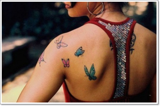 Amazing Black Butterfly Tattoo Sample