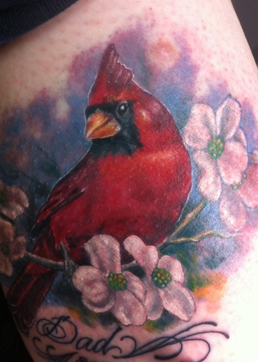 Amazing Cardinal Bird Tattoo Design