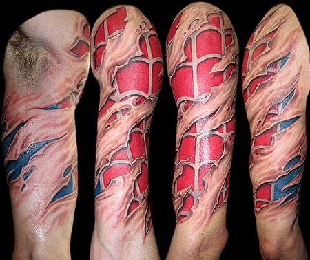 Amazing Cartoon Tattoo