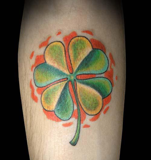 Amazing Clovers Tattoos On Lower Waist