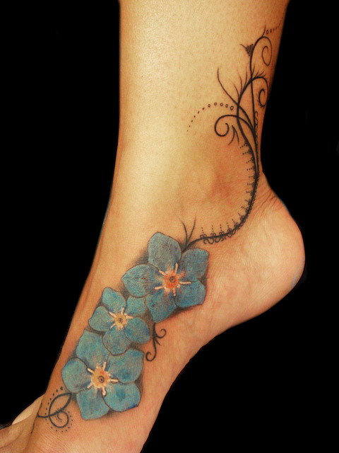Amazing Dragonfly Tattoo On Ankle