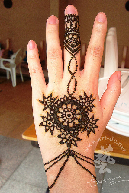 Amazing Henna Tattoo Design On Hand