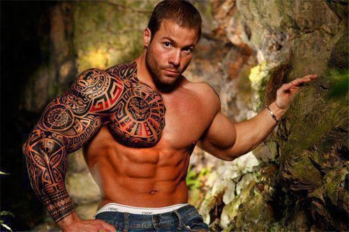 Amazing Left Muscles Tattoos For Men