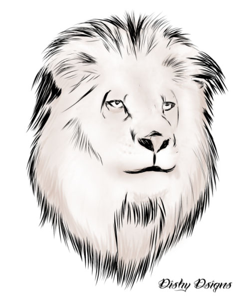 Amazing Lion Head Tattoo Sample