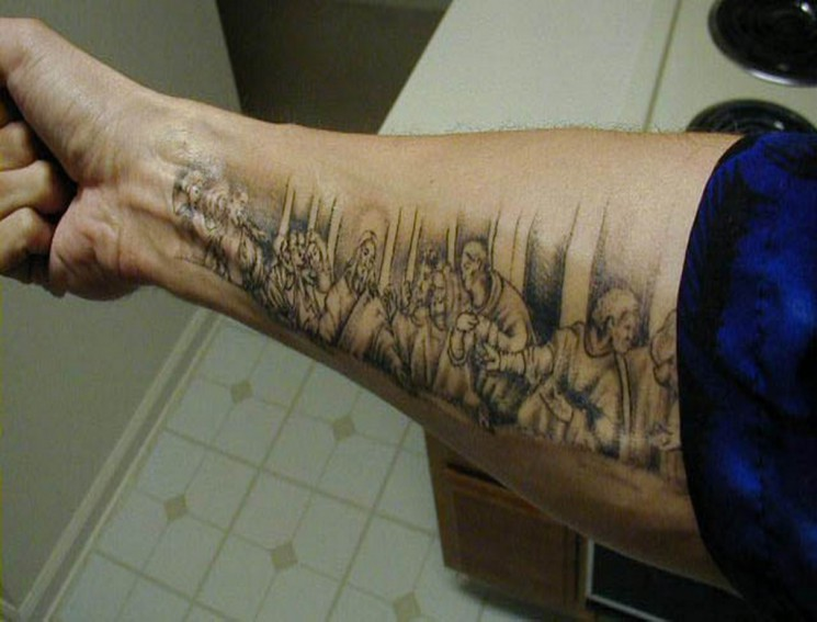 Amazing Literary Tattoo Design On Forearm