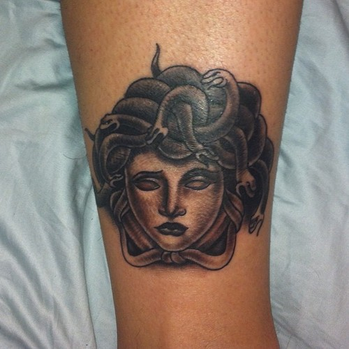 Amazing Medusa Head Tattoo