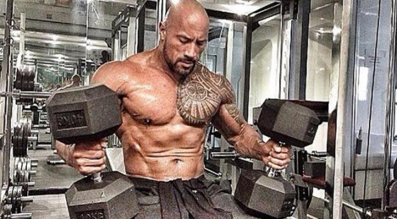 Amazing Muscles Tattoo Of The Rock