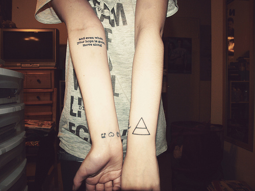Amazing Small Triangle Tattoo On Forearm Photo 1 2017 Real Photo