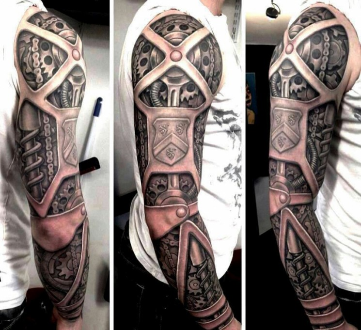 Amazing Tree Sleeve Tattoos