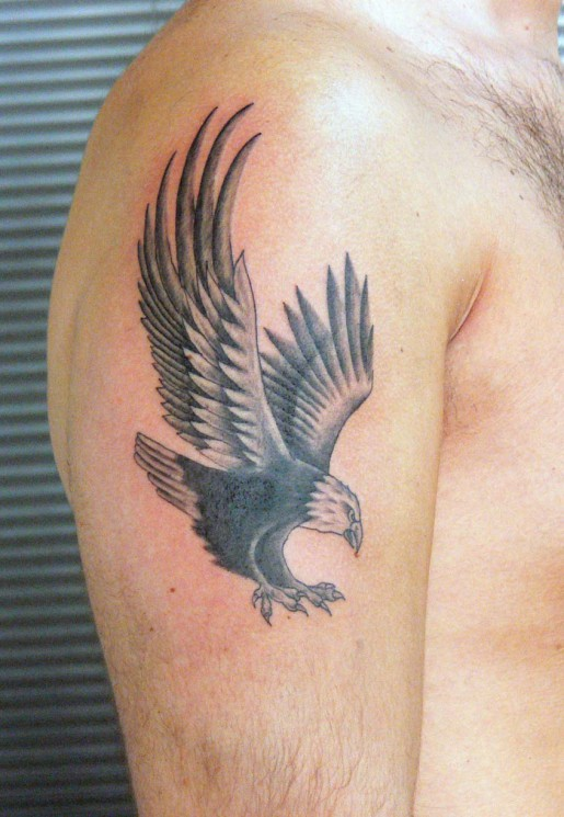 American Eagle Tattoo On Biceps For Men