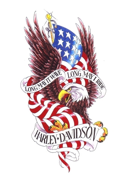American Flag And Banner Tattoos