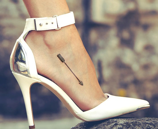 An Arrow Tattoo On Foot Specially For Girls