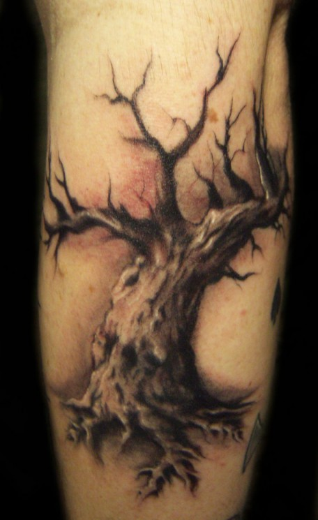 An Oak Tree Tattoo On Arm