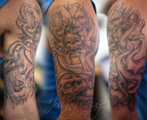An Old Viking Tattoo For Arm