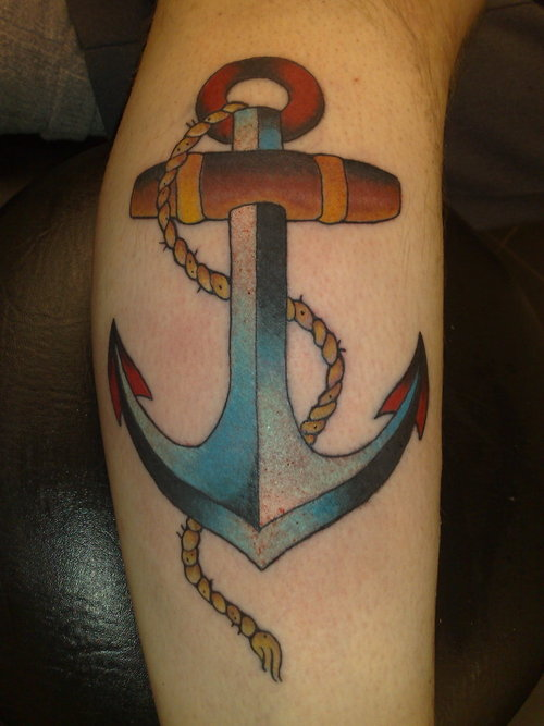 Anchor Tattoo Designs With colour