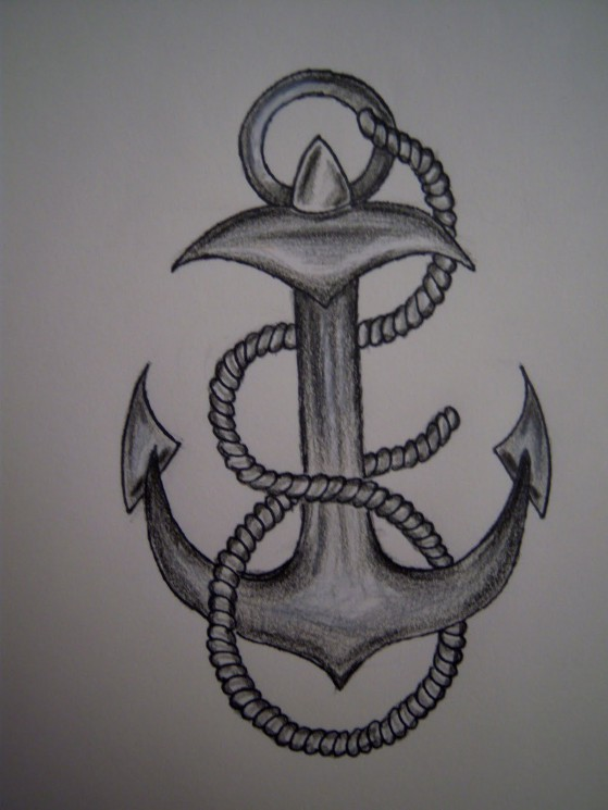 Anchor Tattoo Outline