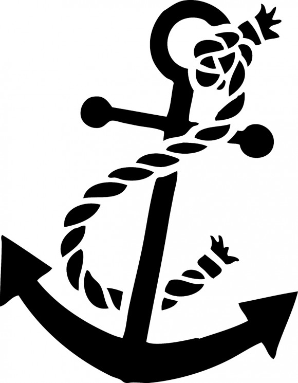 Anchor With Rope Nautical Tattoo Design