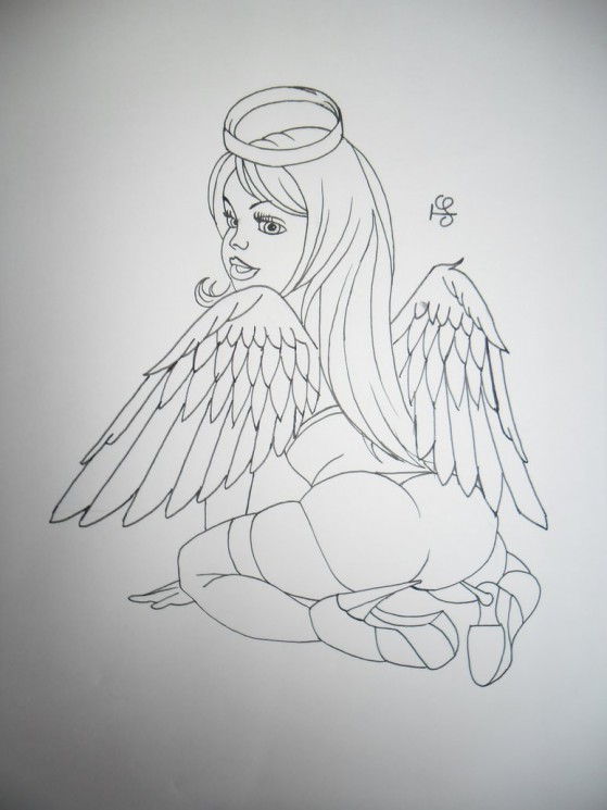 Angel Girl Tattoo Sample