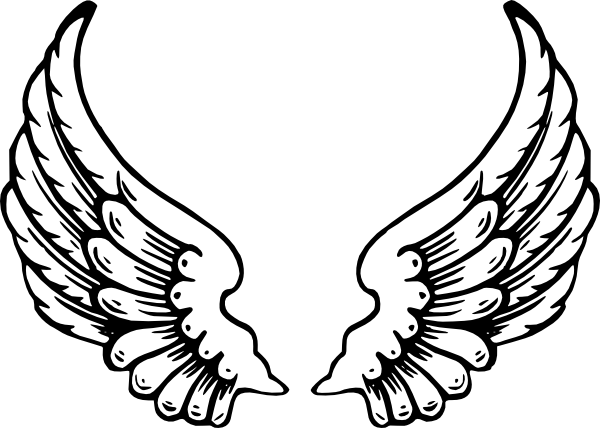 Angel Girl With White Wings Tattoo Design