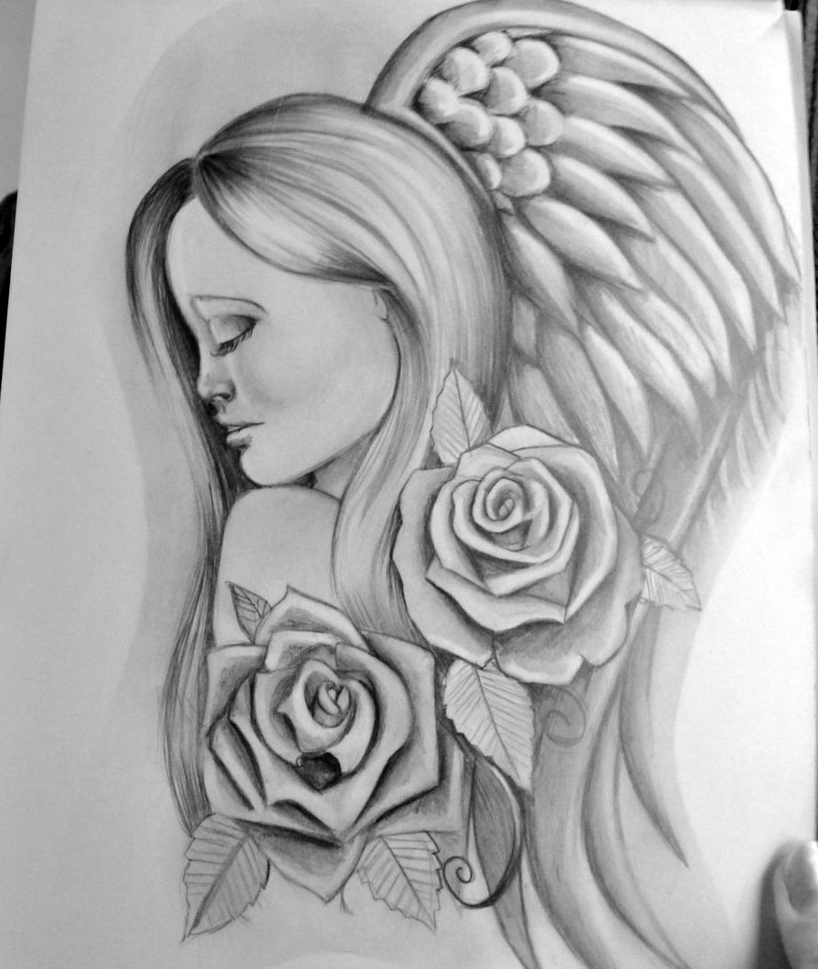 angel tattoo drawing real photo pictures images and sketches