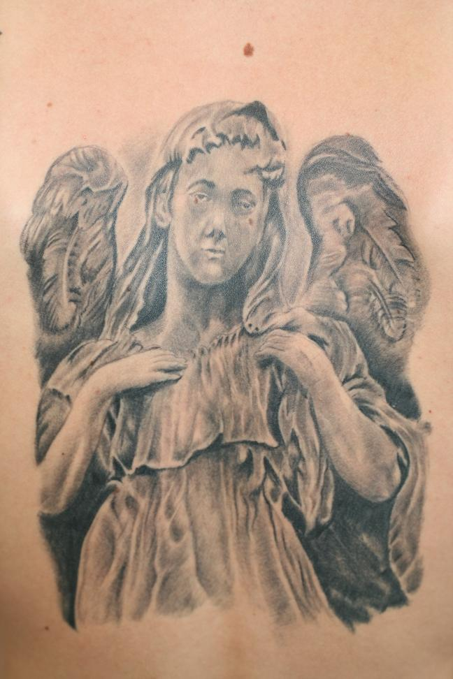 angel vs she devil tattoo design in 2017 real photo pictures images and sketches tattoo. Black Bedroom Furniture Sets. Home Design Ideas