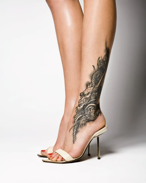 Angel Wings Anklet Tattoo