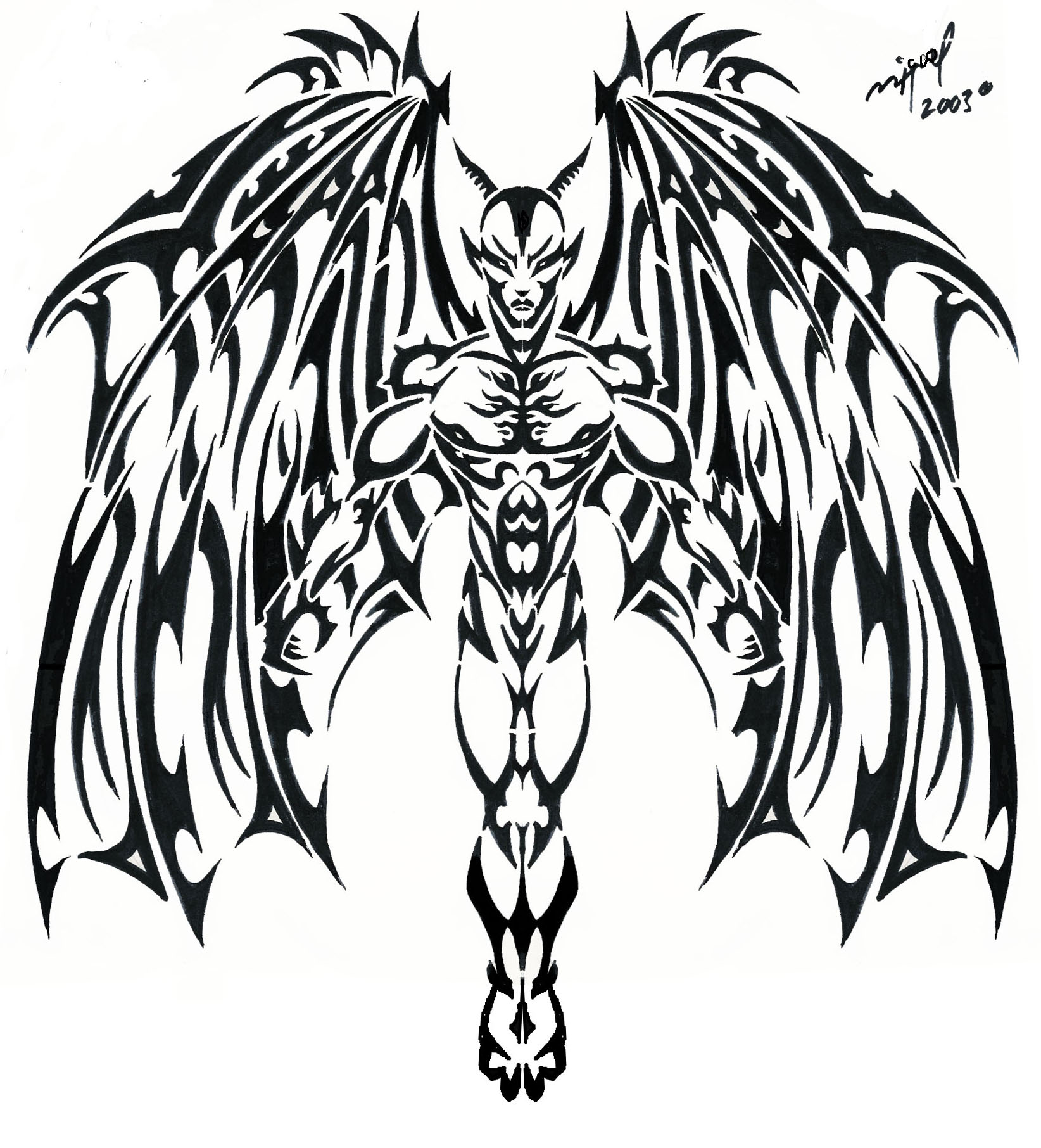 100 angel vs demon tattoo design angel vs demon for She devil tattoo