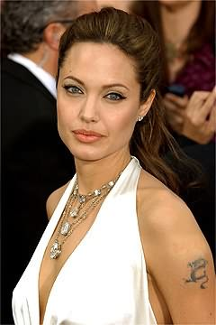 Angelina Jolie Tattoo On Muscles