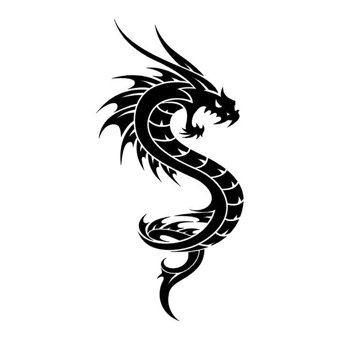 Angry Chinese Dragon Tattoo For Men