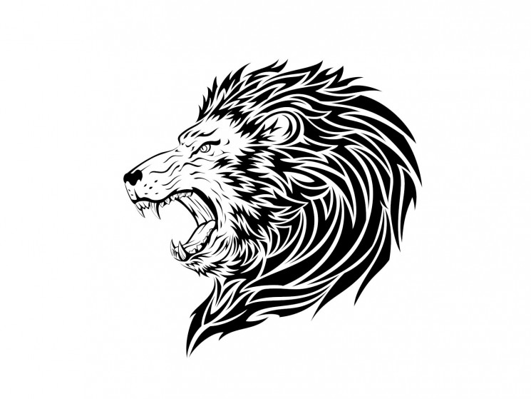 Angry Lion Face Tattoo