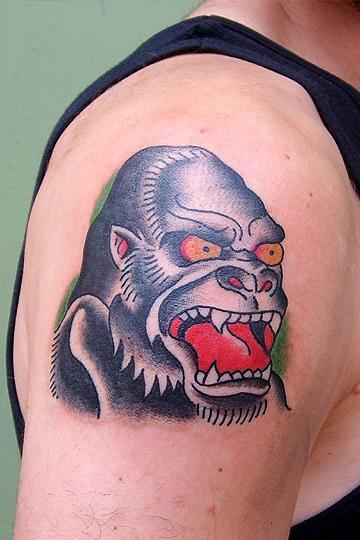 Angry Monkey Tattoo On Arm