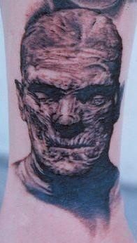 Angry Mummy Coming Out Of Skin Tattoo