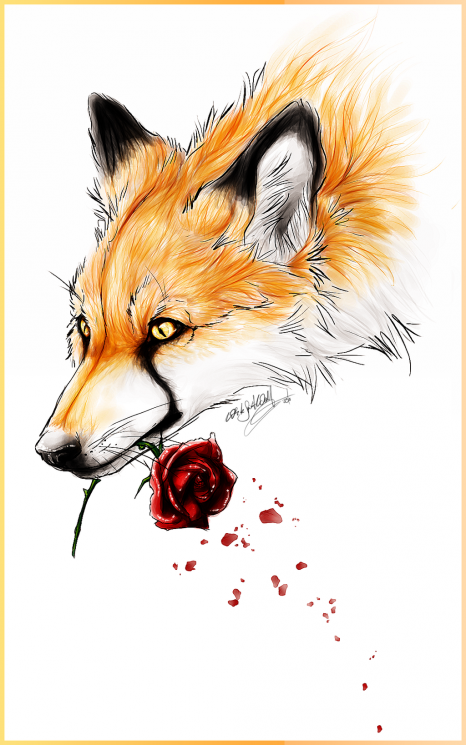 Animal And Rose Tattoo Designs