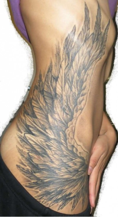Ankle Angel Wing Tattoo