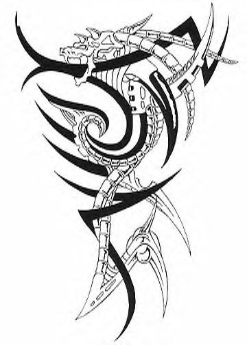 Ankle Tattoo Design Of Dragon